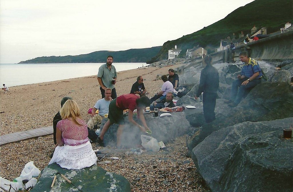40th Anniversary gathering BBQ on the beach at Beesands