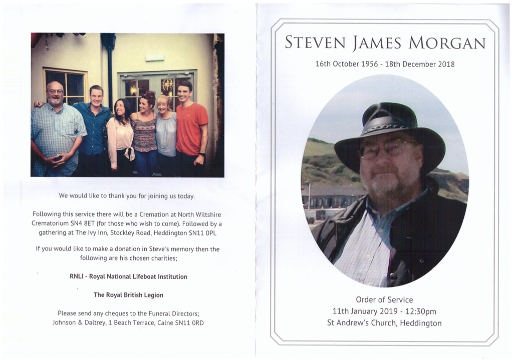 Steve Morgan Order of Service