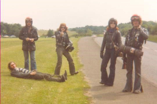 Polly, Paul, Little Pete, Gale and Frank at Gnasher Rally, Bedford - 1980